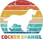 Cocker Spaniel tappning stock illustrationer