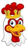 Cockerel κοκκόρων κοτόπουλου βασιλιάδων κινούμενα σχέδια κορωνών πουλιών ελεύθερη απεικόνιση δικαιώματος