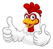 Cockerel κοκκόρων κινούμενων σχεδίων κοτόπουλου χαρακτήρας διανυσματική απεικόνιση