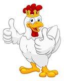 Cockerel κοκκόρων κοτόπουλου βασιλιάδων κινούμενα σχέδια κορωνών πουλιών διανυσματική απεικόνιση
