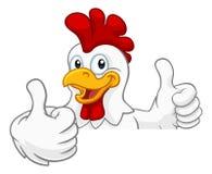 Cockerel κοκκόρων κοτόπουλου χαρακτήρας κινουμένων σχεδίων πουλιών απεικόνιση αποθεμάτων