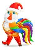 Cockerel Χριστουγέννων ελεύθερη απεικόνιση δικαιώματος