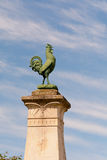 Cockerel atop War Memorial in French village Royalty Free Stock Photography
