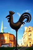 Cockerel on the Dome Square in Riga Royalty Free Stock Photo