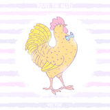 Cockerel stylish Royalty Free Stock Image