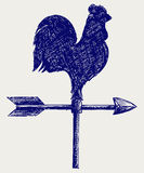 Cockerel wind vane Stock Photos