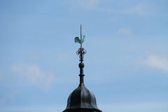 Cockerel Wind Vane. A Cockerel Wind Vane on Top of a Building Tower royalty free stock images