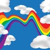 Cockeyed Rainbow Royalty Free Stock Photos