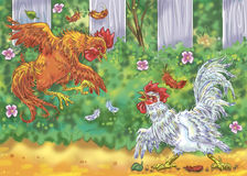 Cockfight Stock Photo