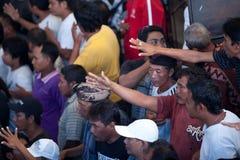 Cockfighting Konkurrenz auf Bali Stockfoto