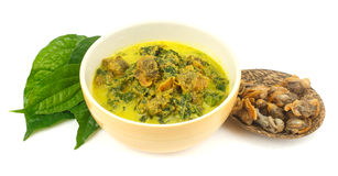 Cockle Curry with Betel Leaves Royalty Free Stock Photos