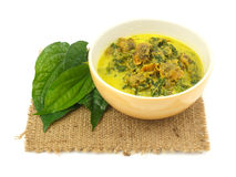 Cockle Curry with Betel Leaves Royalty Free Stock Images