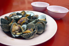 Cockles. Seafood in Bangkok, Thailand Stock Photo