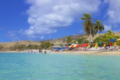 Cockleshell plaża w St Kitts, Karaiby obraz royalty free