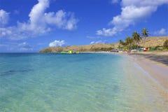 Cockleshell pla?a w St Kitts, Karaiby zdjęcia stock