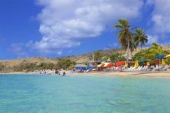 Cockleshell pla?a w St Kitts, Karaiby fotografia royalty free
