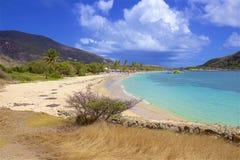 Cockleshell pla?a w St Kitts, Karaiby zdjęcia royalty free