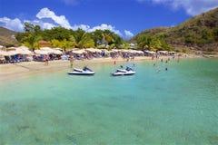 Cockleshell pla?a w St Kitts, Karaiby obrazy stock