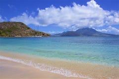Cockleshell pla?a w St Kitts, Karaiby obraz royalty free