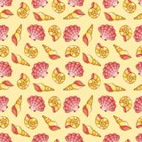 Cockleshells seamless pattern Stock Photos