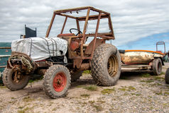 Cockling tractor Royalty Free Stock Photos