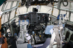 Cockpit. Of a cargo aircraft Royalty Free Stock Photo