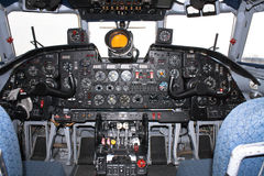 Cockpit. Of a Russian  cargo aircraft Royalty Free Stock Image