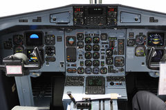 Cockpit. Control panel in a plane cockpit Royalty Free Stock Image
