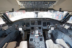 In the cockpit. Inside view Stock Photos