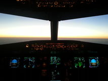 cockpit a320 Royaltyfri Foto