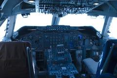 cockpit 747 arkivfoton