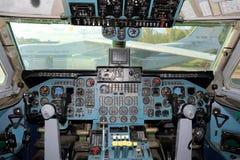 Cockpit of Aeroflot Ilyushin IL-86 RA-86103 at Sheremetyevo international airport. Stock Image
