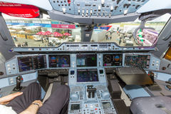 Cockpit Airbusses A350 Stockbild