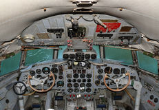 The cockpit aircraft IL 18 Royalty Free Stock Photos