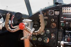 Cockpit Airplane Antonov 2 Stock Images