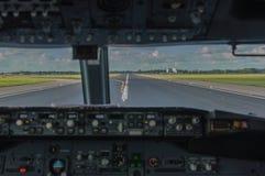 Cockpit-Ansicht lizenzfreies stockbild