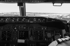 Cockpit Approach Royalty Free Stock Photos