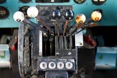 Cockpit av Douglas DC-3 Arkivfoton