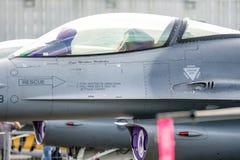 Cockpit av falken F-16 Royaltyfria Bilder