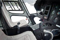 Cockpit av helikoptern Royaltyfria Bilder