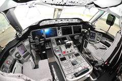 Cockpit of a Boeing 787 Dreamliner at Singapore Airshow 2012 Royalty Free Stock Photo