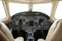Cockpit Of A Business Jet Royalty Free Stock Photos