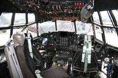 Cockpit C-130 Hercules royalty free stock image