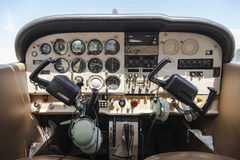 Cockpit of a cessna cardinal Royalty Free Stock Photo