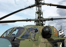 Cockpit of combat helicopter Royalty Free Stock Photography