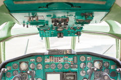 Cockpit of a commercial passenger airliner Stock Image