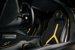 Cockpit des Aventador SV Lizenzfreies Stockbild