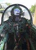 Cockpit des Kampfflugzeugs Mig-21 lizenzfreie stockfotografie