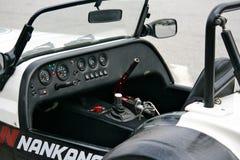 Cockpit des laufenden Autos Lizenzfreies Stockbild