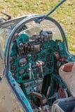 Cockpit des Sowjets Jetfighter Mig Stockfotos
